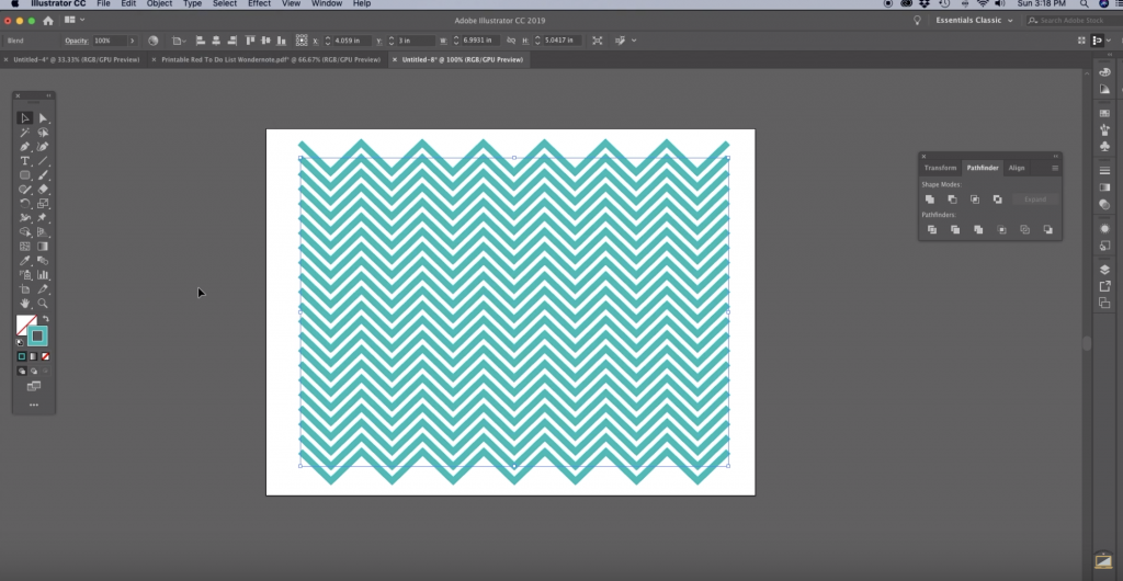 Once the chevron pattern has generated you can easily make adjustments