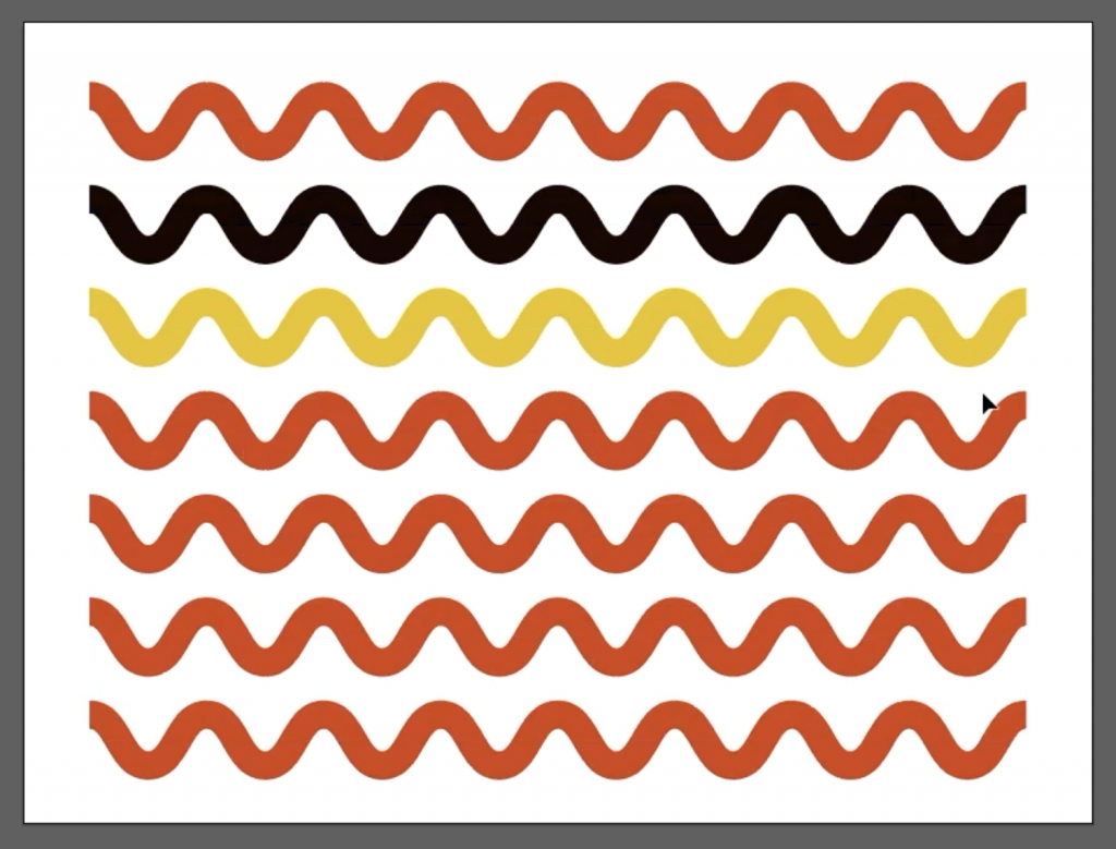 make ric rac wavy lines in adobe illustrator in five simple steps video tutorial and written directions with pictures