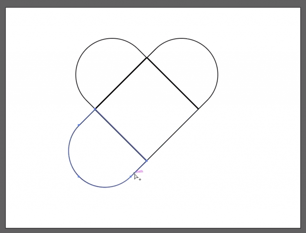 Make a Heart: Delete Extra Pieces from Heart Shape in Illustrator