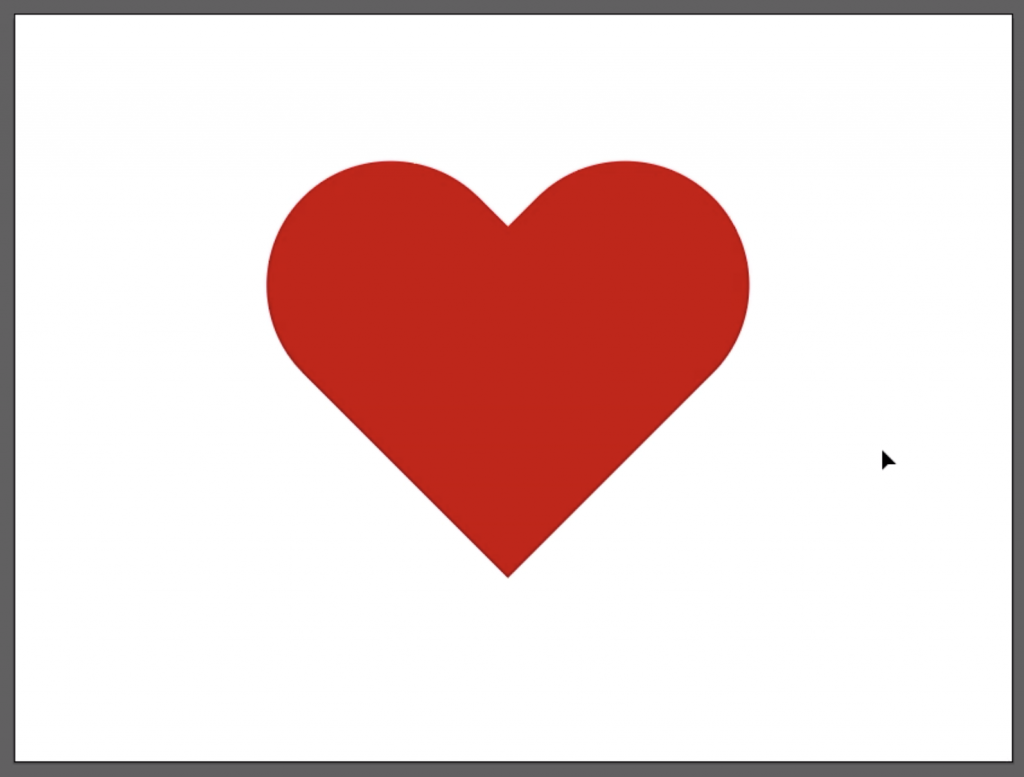 Make a Heart in Illustrator: Change the Color of the Heart