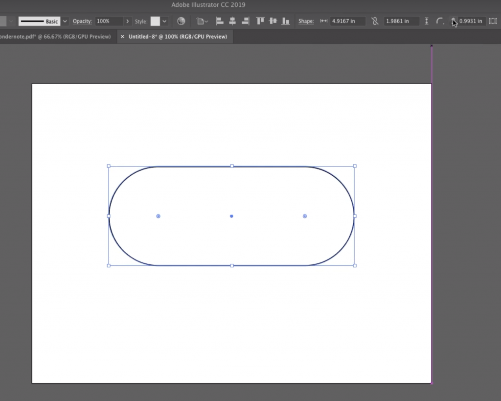 Make a Heart: Adjust the Corner Radius of the Rectangle in Illustrator