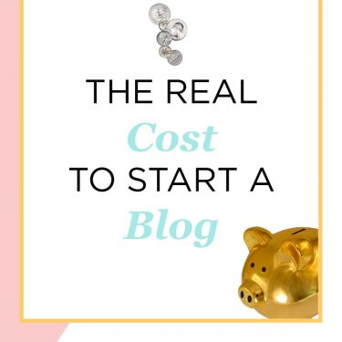 money falling into a piggy bank - the real cost to start a blog