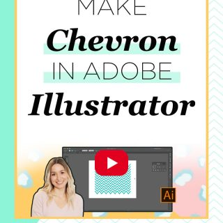 Make easy chevron pattern in adobe illustrator by following this 5 step tutorial