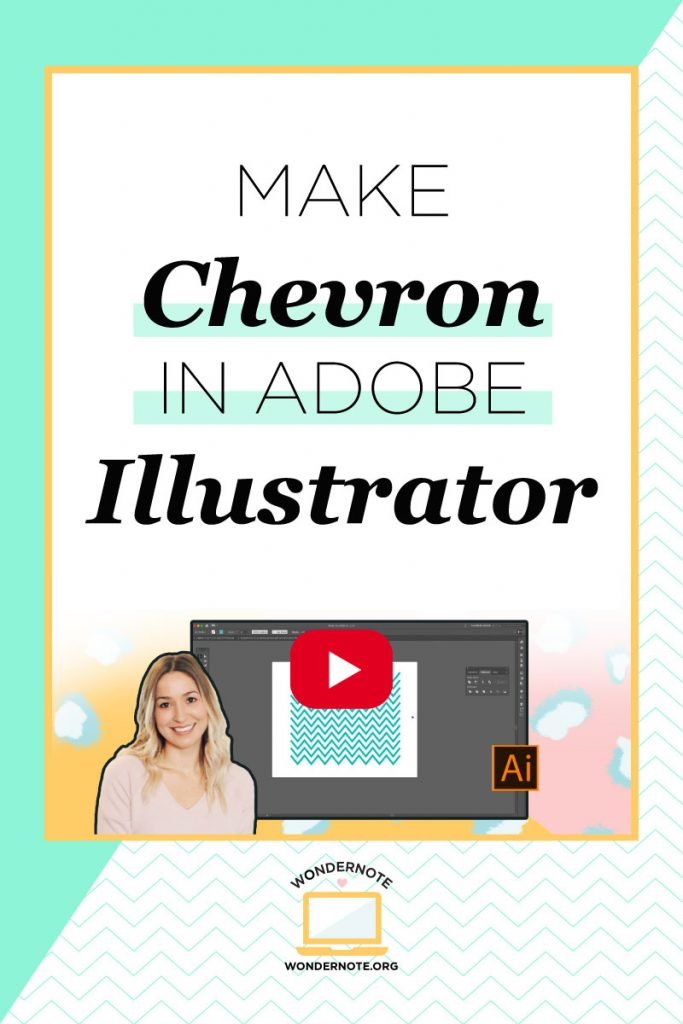 How to Make Chevron in Illustrator 5 Simple Quick Easy Steps with Video Tutorial