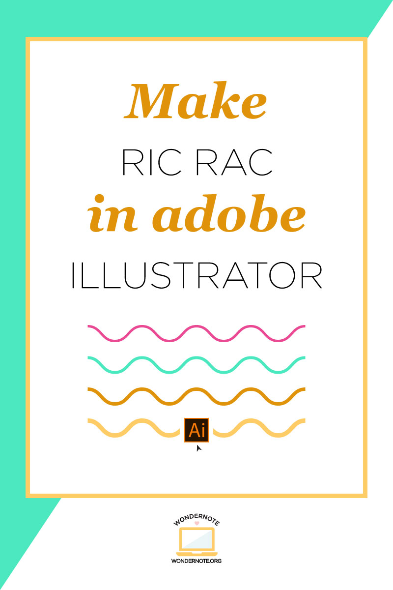 make rice rac wavy lines in adobe illustrator in 5 easy steps tutorial with written instructions photos and video