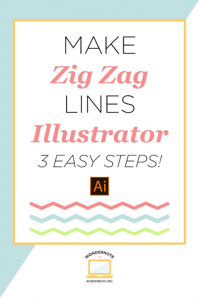 3 simple steps to create zig zag chevron lines in adobe illustrator tutorial screenshots video fast