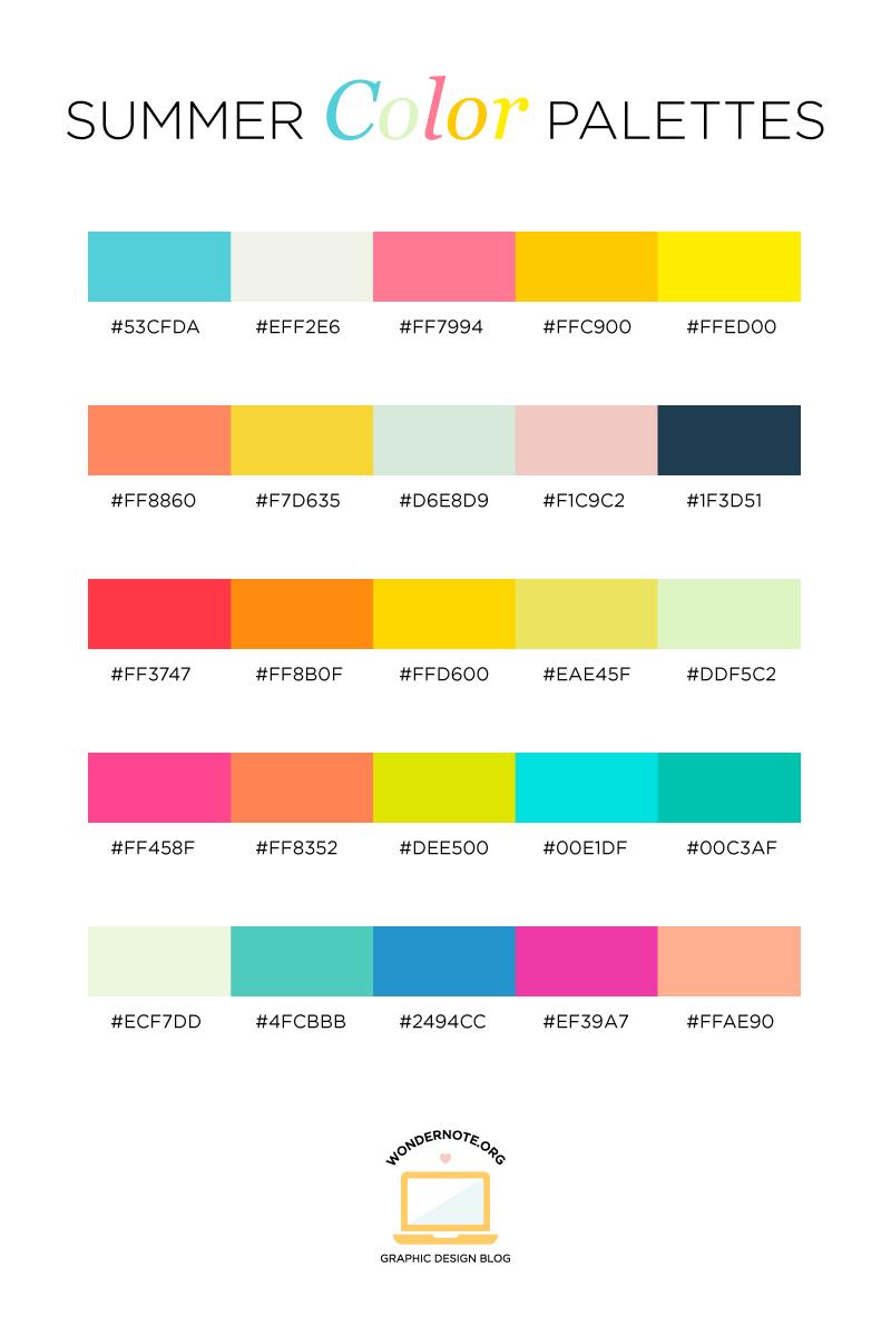 Color Palettes for Web, Digital, Blog & Graphic Design with