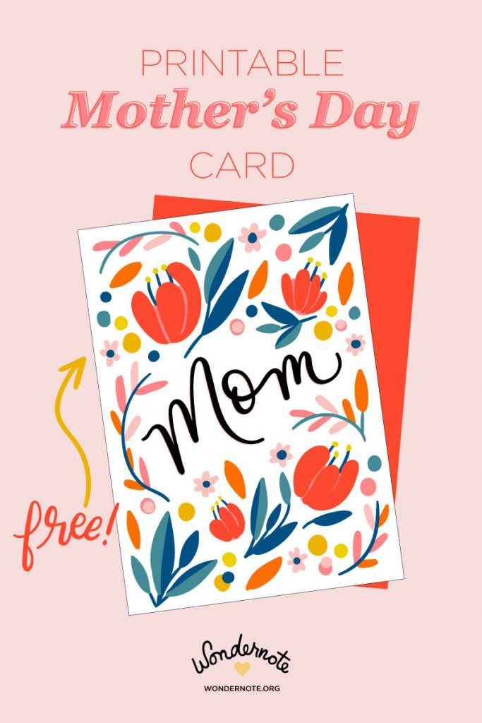 Free Printable DIY Mother's Day Card